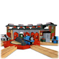thomas the tank engine, roundhouse, thomas roundhouse, round house, thomas, thomas and friends, thomas the tank, thomas toys, thomas the train, thomas wooden train, wooden thomas train, trains, railroads, collectibles, room decor